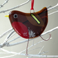 Fused glass bird - Robin