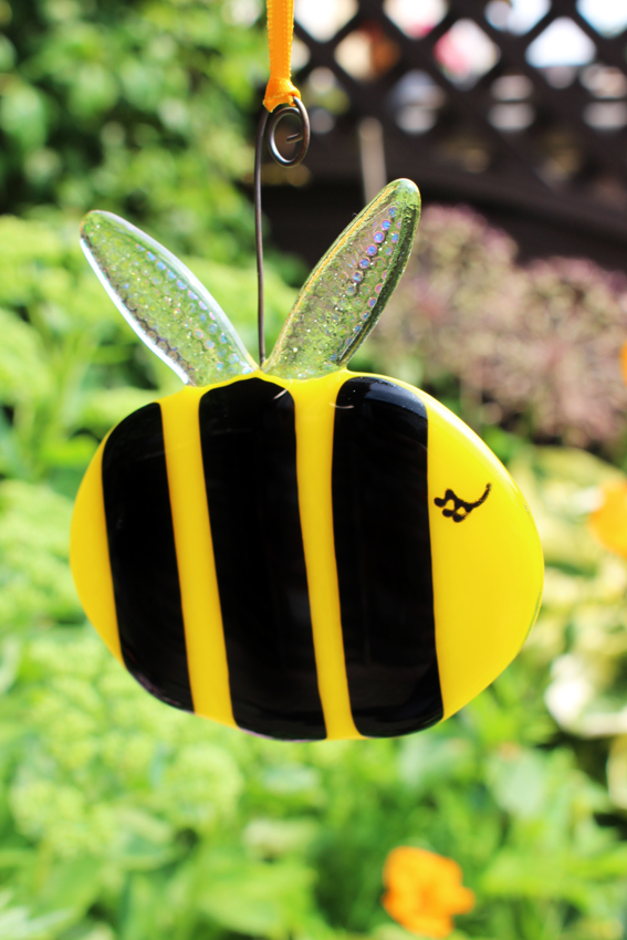 Glass Bumble Bee - Opaque yellow