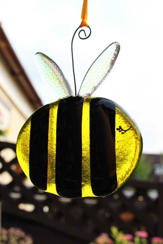 Glass Bumble Bee - Transparent yellow
