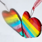 Rainbow Glass Heart