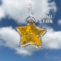 MINI Yellow Fused Glass Star