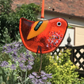 Fused Glass Orange Bird