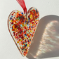 Multicoloured Fused Glass Heart