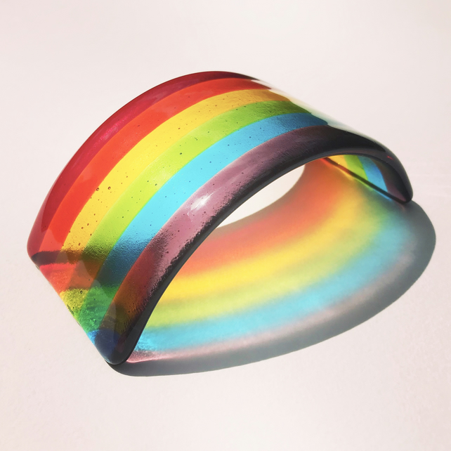 Fused Glass Rainbow - Small