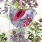 Fused Glass Lilac Bird