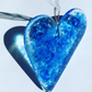 Blue Fused Glass Heart