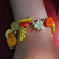 Sunshine and smiles charm bracelet SALE