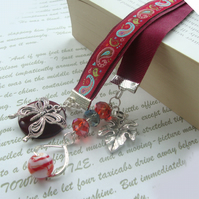 Bookmark  Red Paisley butterfly Bookmark
