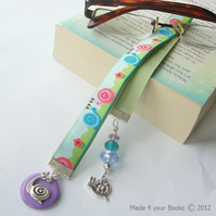 Snail Embroidery ribbon bookmark