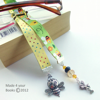 Busy Bee embroidery ribbon Bookmark
