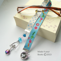 Bird embroidery ribbon bookmark