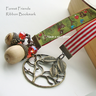 Forest friends ribbon bookmark