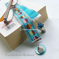 Cupcake embroidery ribbon bookmark