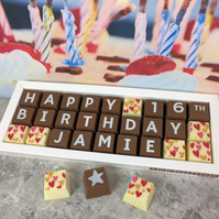 Personalised 16th Birthday Chocolate Box
