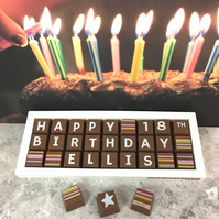 Personalised Chocolates Birthday Gift