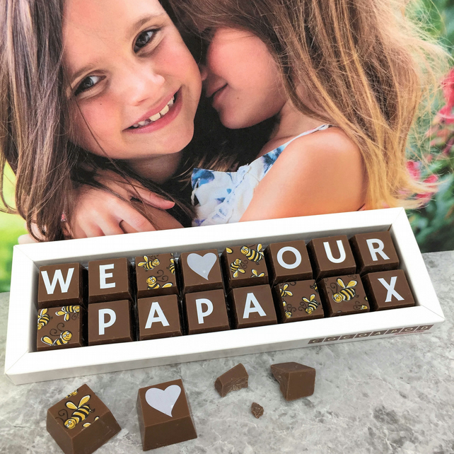 Personalised I or WE LOVE DADDY Chocolate Gift