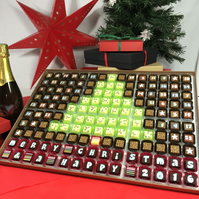 Massive Chocolate Advent Calendar To Share with Christmas Tree