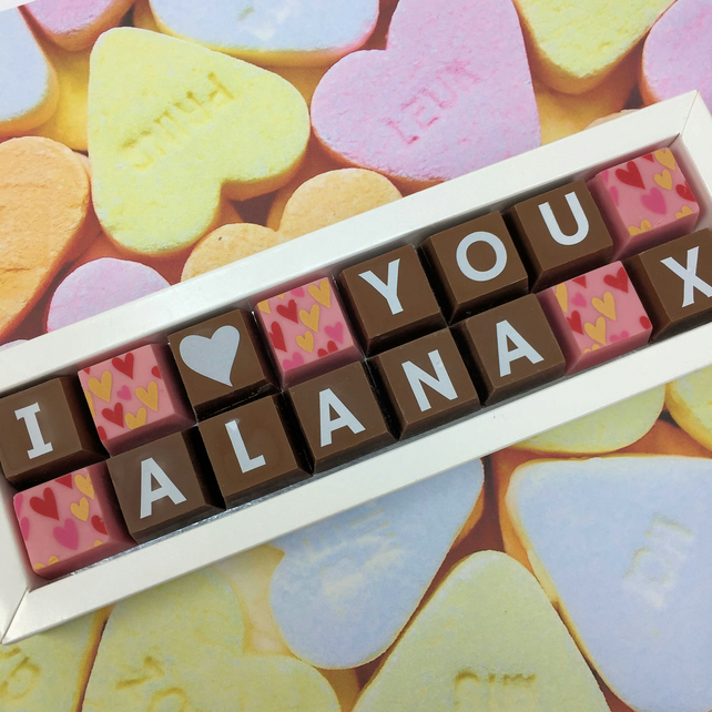 I (heart) YOU Personalised Chocolate Gift