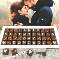 Personalised Valentines Chocolate Box