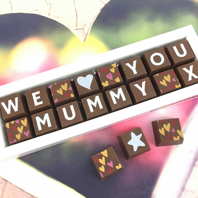Personalised I or WE LOVE MUMMY Chocolate Gift