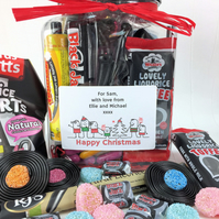 Retro Liquorice Sweets Jar with Personalised Sticker