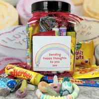 Retro VEGAN Sweets Jar with Personalised Sticker