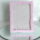 Clay rose picture frame