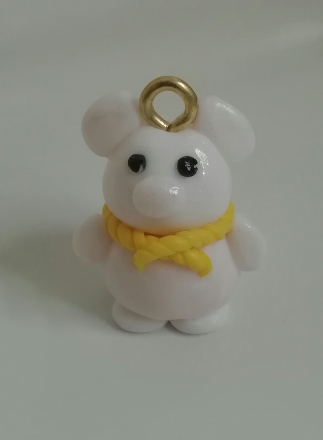 Novelty fimo charms polymer clay teddy bear charm ideal to attach on bag and key