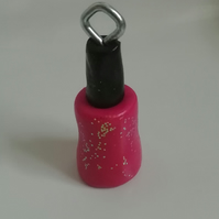 Novelty fimo charms polymer clay coloured nail varnish bottle
