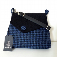 Harris Tweed shoulder bag, crossbody bag, handbag – blue and black check