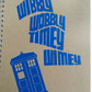 Dr who timey whimey vinyl stickered notebook, whovian, geek notebook