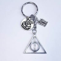wizard inspired chunky charm keyring, hogwarts gifts