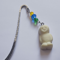 Glow in the dark fimo jelly baby bookmark