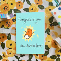 Blue new baby card!