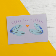 Happy as a clam card