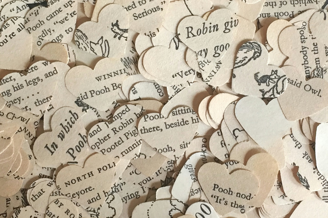 Ideal For Wedding Or Other Celebration Confetti 100 Vintage Music Sheet Hearts