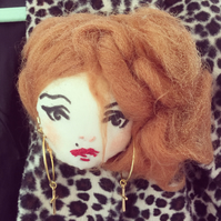 Madonna ooak doll face corsage
