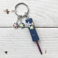 Miniature crochet hook and stitch marker set