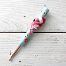 Christmas flamingo crochet hook