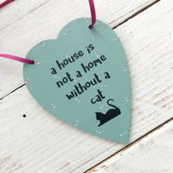 Cat lovers hanging heart, cat plaque