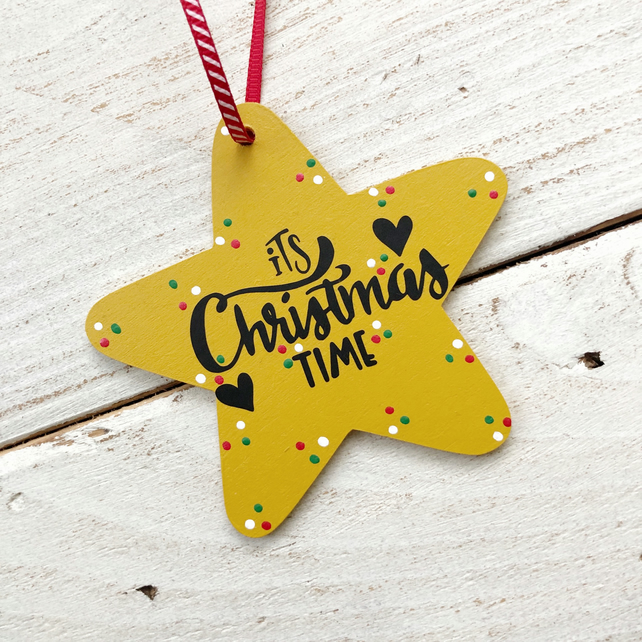 SALE Christmas Time hanging star decoration