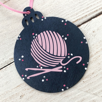 Crochet lovers Christmas bauble