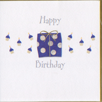 'Happy Birthday' Spotted Parcel card CGBB