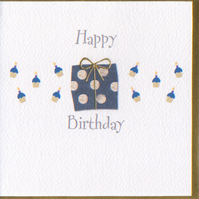 'Happy Birthday' Spotted Parcel card CGBA