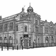 Salford Lads Club in Pen - Limited Edition Signed Art Print