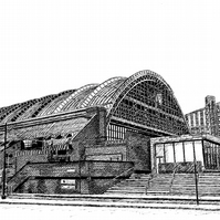 Manchester Central in Pen - Limited Edition Signed Art Print