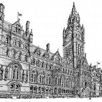 Manchester Town Hall - Limited Edition Art Print