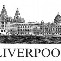 Liverpool Waterfront in Pen - Limited Edition Signed Art Print