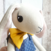 BERNARD Bunny - handmade cloth doll, bunny doll, fabric doll