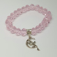 Stretch Bracelet Swarovski Crystals in Soft Pink